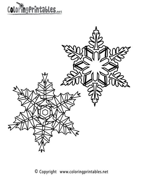 91 free coloring pages snowflake printable