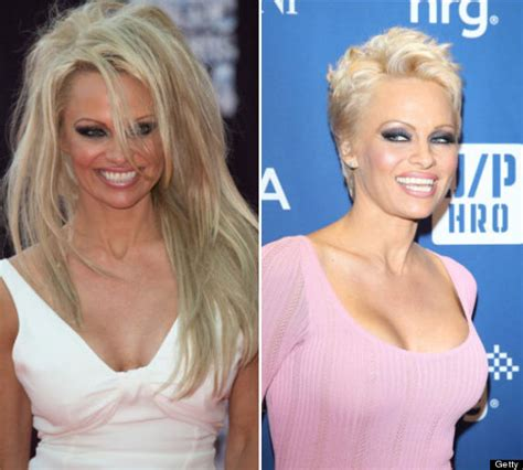 pamela anderson gets hair extensions and says goodbye to