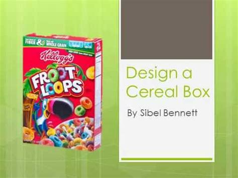 how to design and make a cereal box