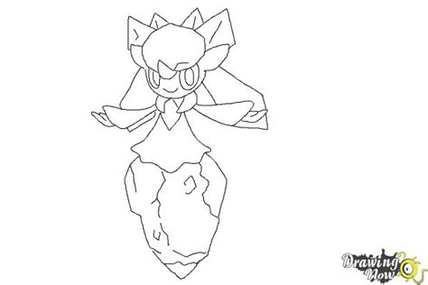 diancie pokemon coloring page how to draw diancie from pokemon x y drawingnow