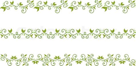 Wedding Border Green by Set Of Green Floral Border Stock Vector Colourbox