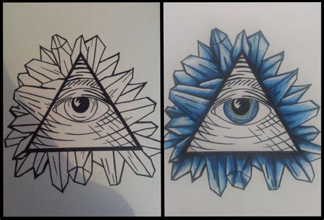 triangle eye tattoo triangle eye images designs