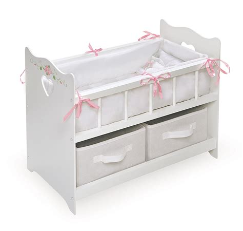 Bassinet Bedding by Baby Doll Crib American Toys Wood Drawers Bed Sheets Bassinet Bedding Ebay