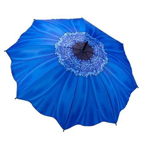 flower design umbrellas blue daisy floral stick umbrella from umbrella heaven