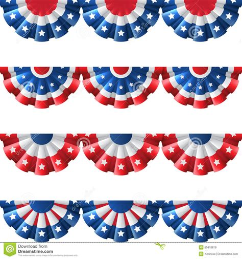 us bunting decoration stock vector image 55816819