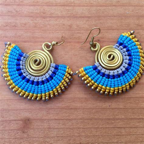 macrame earrings macrame earrings modern day hippie