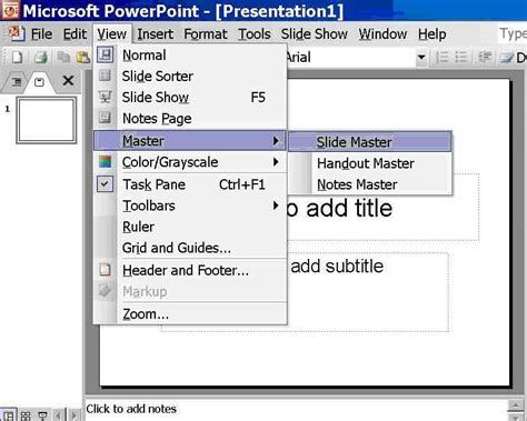 create a template for microsoft office powerpoint 2003
