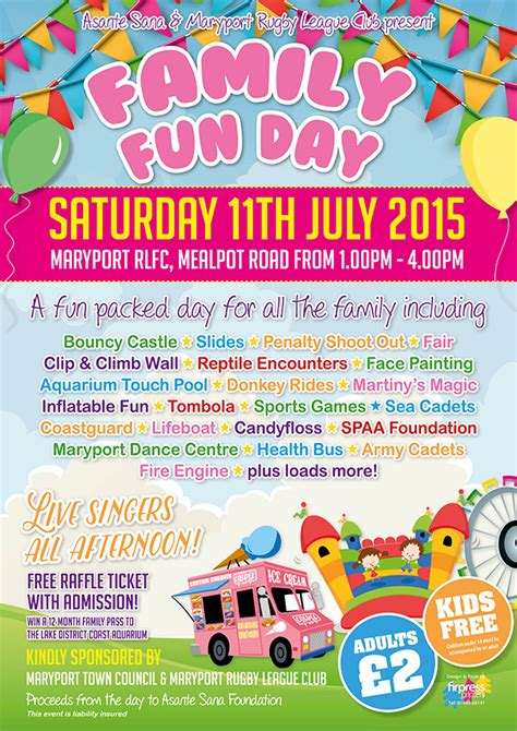 family fun day a3 poster firpress printers