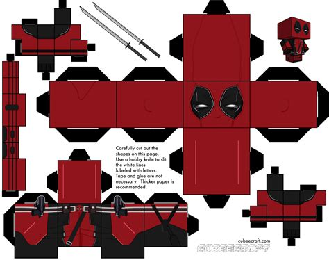 Deadpool Papercraft - 1000 images about origami on cubes