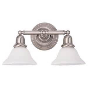 Menards Brushed Nickel Vanity Light Sea Gull Lighting Sussex 2 Light Brushed Nickel Vanity