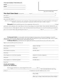 Florida Quit Claim Deed Form Template by Quit Claim Deed Form Pdf