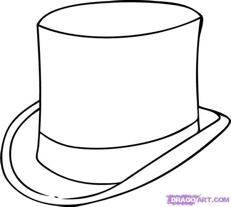 coloring page top hat the gallery for gt mad hatter hat coloring page