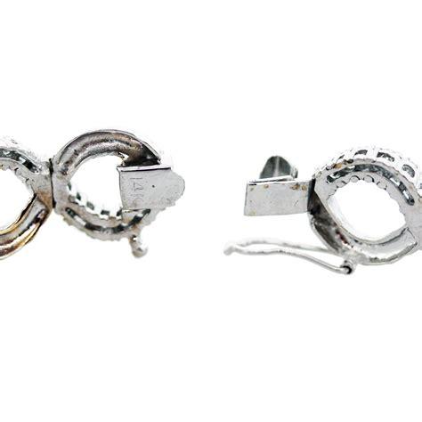 14k white gold and infinity link bracelet