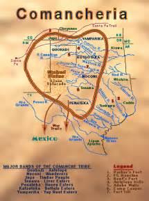 maps of comanche indians