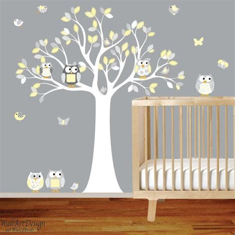 Wall Decals For Nurseries Wall Decals Nursery Nursery Wall Decal Tree Decal Chevron Owl Tree Decal Nursery Wall