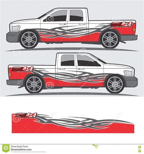 Car Design Sticker Vector Graphics by Truck And Vehicle Decal Graphic Design Cartoon Vector