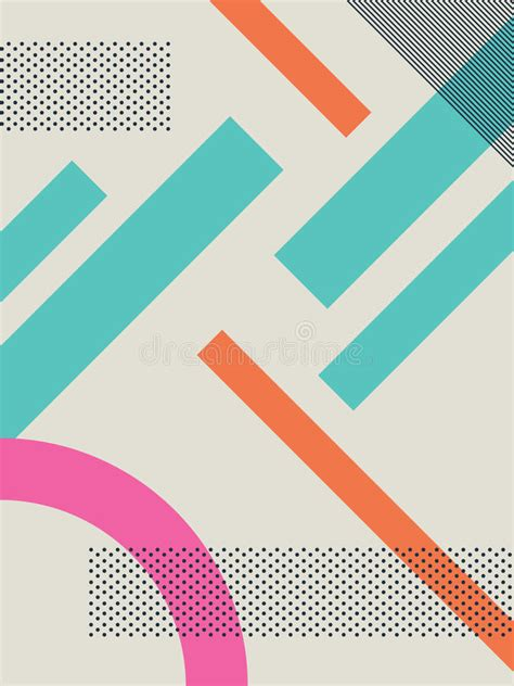 abstract shape pattern vector abstract retro 80s background with geometric shapes and