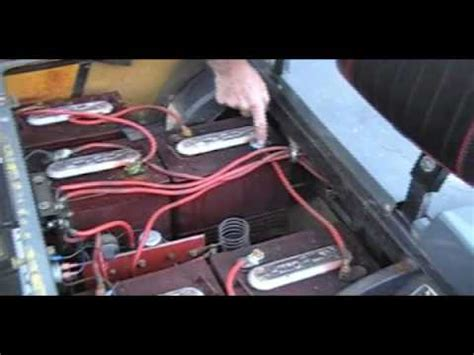 golf cart battery cables  part  maintenance youtube