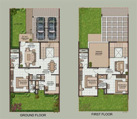 row house design plans