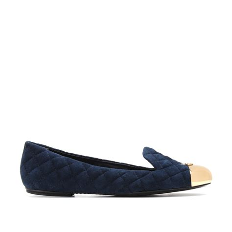 burch slippers burch kaitlin suede slippers in blue lyst