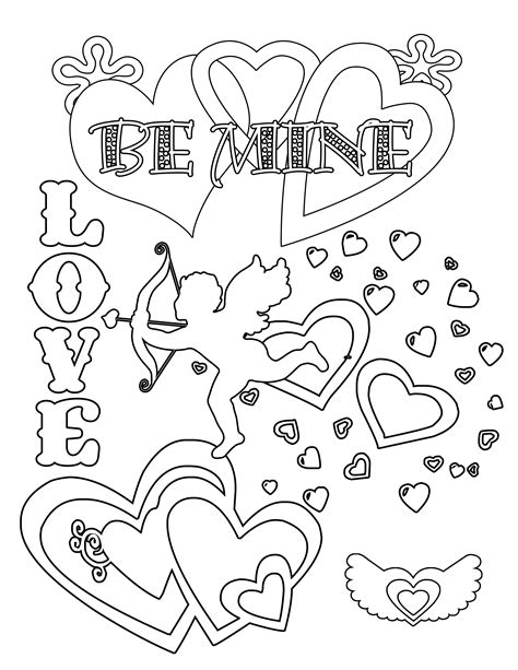 s day printable coloring pages simplicity free valentines day coloring pages and