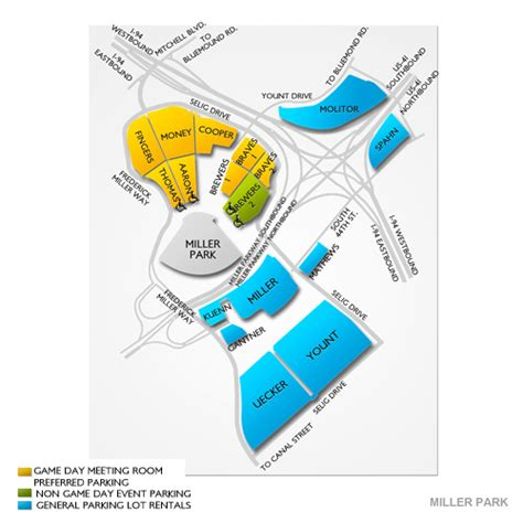 miller park seating map miller park parking miller park parking map seats
