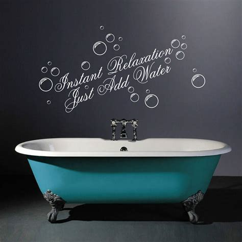 bathroom stencil ideas instant relaxation wall quotes stickers by parkins