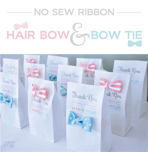 hair tie card template diy no sew ribbon hair bow bow tie free printable