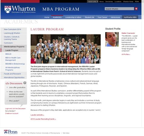 Wharton Mba Application by International Business Wharton International Business School