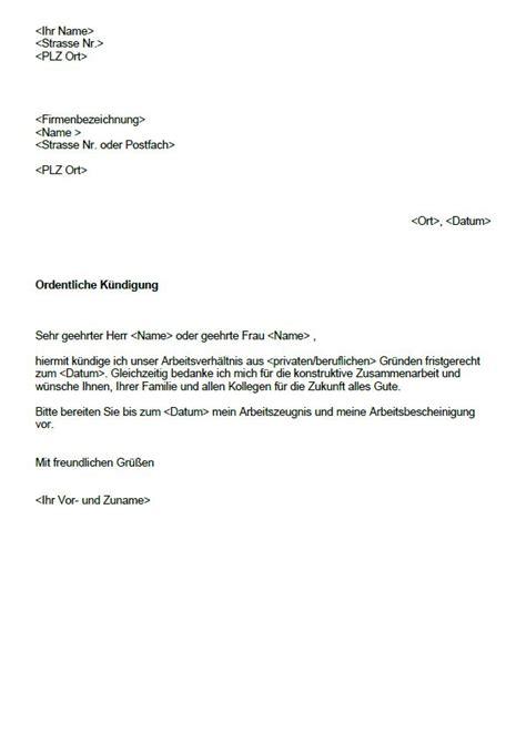 Vorlage Kündigung Arbeitsvertrag In Der Probezeit Arbeitnehmer Arbeitnehmer K 252 Ndigung Vorlage K 252 Ndigung Vorlage Fwptc