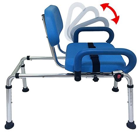 bath transfer bench with swivel seat carousel sliding transfer bench with swivel seat premium
