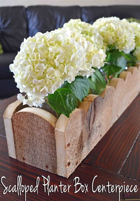 Diy Planter Box Centerpiece by How To Build A Scalloped Planter Box Centerpiece