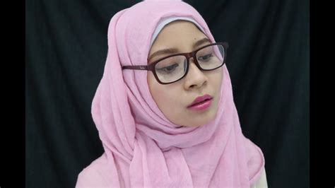 tutorial hijab pashmina  berkacamata turorial hijab