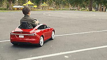 mini tesla model s kid's toy car