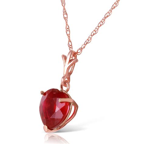 ruby gold necklace 1 45 carat 14k solid gold necklace ruby pendant