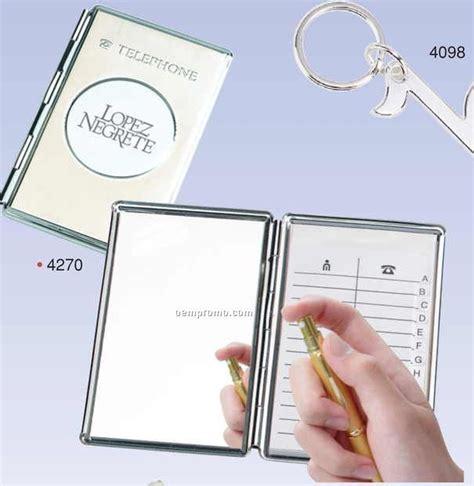 mirror picture book chrome cover telephone address book w mirror screened