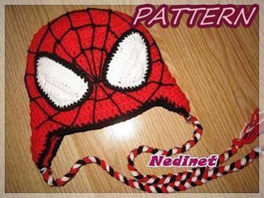 knitting pattern for spiderman hat spiderman crochet hat pattern nedinet pinterest