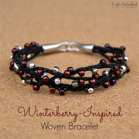 Bead Woven Bracelet woven bracelet tutorial winterberry crafts unleashed
