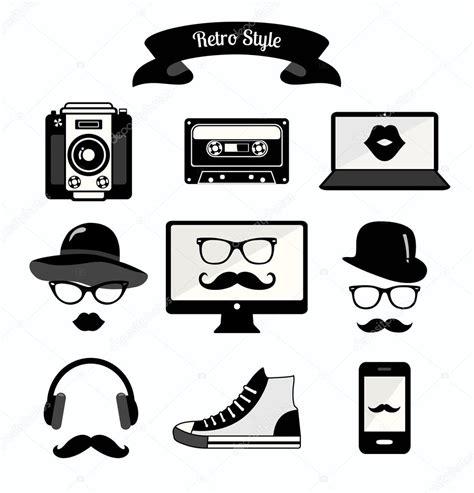 imagenes de hipster blanco y negro iconos de los medios de comunicaci 243 n de estilo hipster