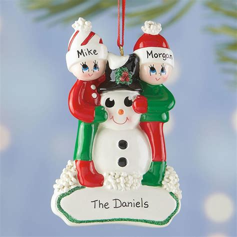 personalized snowman gang ornament current catalog