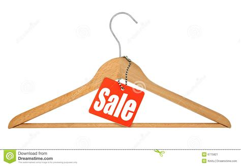 Sale Hanger coat hanger and sale tag stock image image 6775821