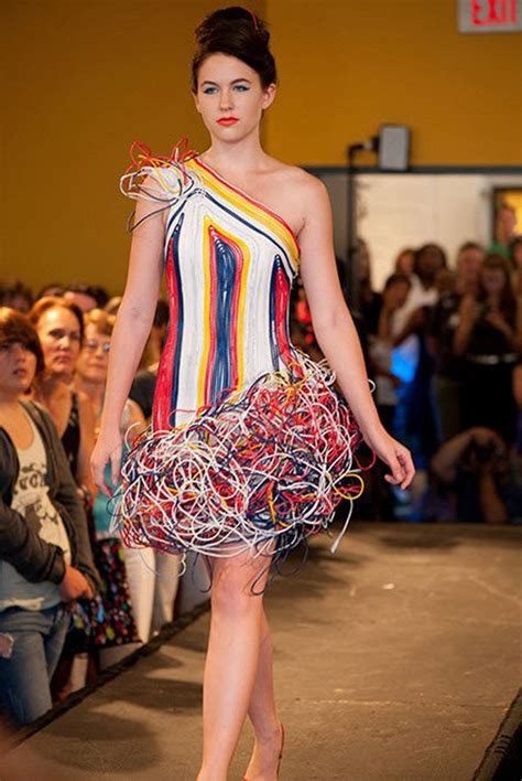 dress design using recycled materials designer creates dress with recycled wires wired