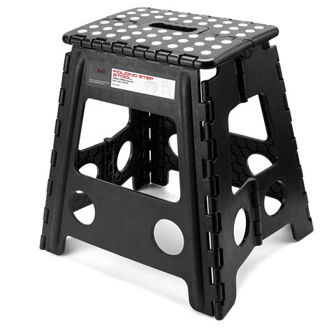 Jeronic Folding Step Stool by Acko 16 Inch Strong Folding Step Stool
