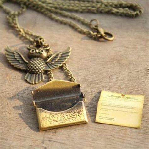 Hogwarts Acceptance Letter Pendant Harry Potter Owl Hedwig Hogwarts Acceptance Letter Necklace Harry Potter Fantastic Beasts