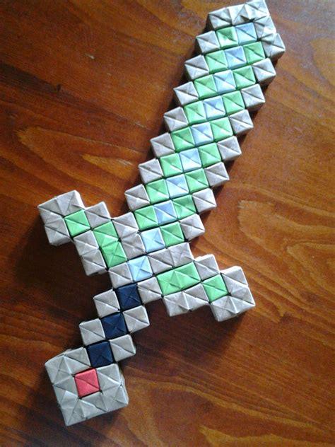 origami minecraft sword by alexandramartazan on deviantart