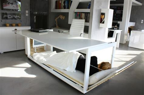 Bed With Desk It by Desk With A Bed Built Into It So You Can Secretly