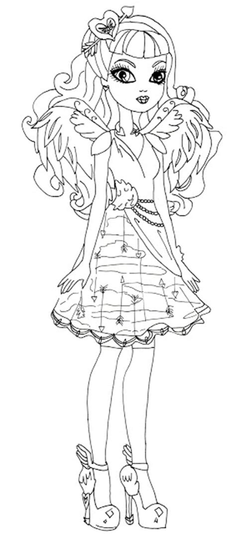 monster high coloring pages cupid cupid monster high free coloring pages