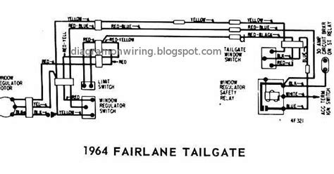 ford fairlane tailgate  windows wiring diagram schematics wiring diagram schematic