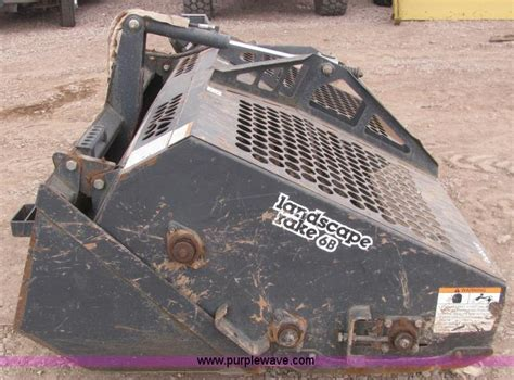 bobcat lr6b landscape rake attachment no reserve auction