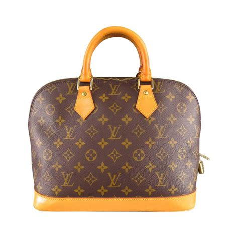 louis vuitton brown monogram canvas vintage alma pm top